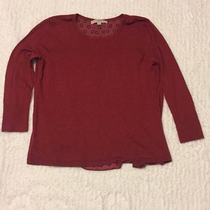 Loft sweater with float back